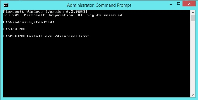 Install Security Essentials in Windows OS