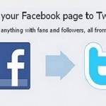 link facebook page to twitter