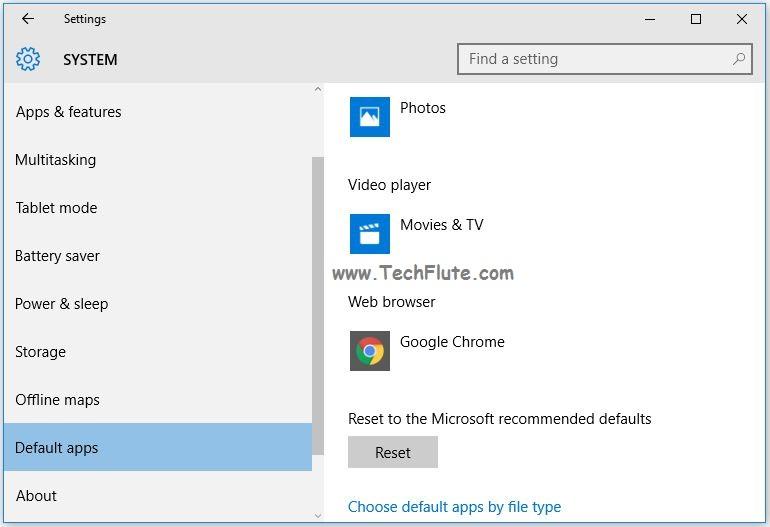 Default Web Browser in Windows 10